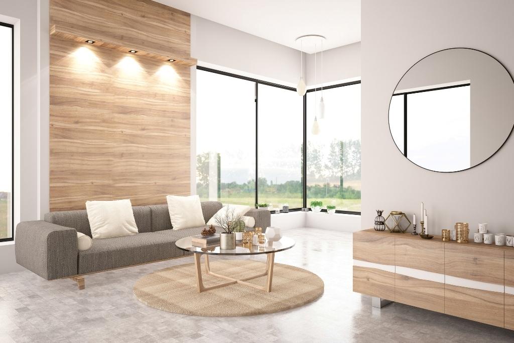 Luxurious living room setup